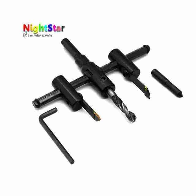 Регулируемый металлический деревянный круг отверстие пилы сверла резак комплект «умелые руки» инструмент 30 мм-120 мм черный сплав лезвие