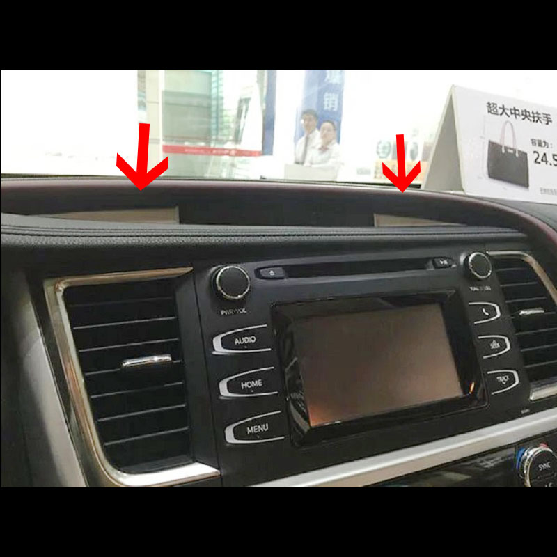 For Toyota Highlander Kluger 2014 2018 ABS Plastic Car middle air conditioner outlet vent left console Frame Panel Cover Trim in Interior Mouldings from Automobiles Motorcycles