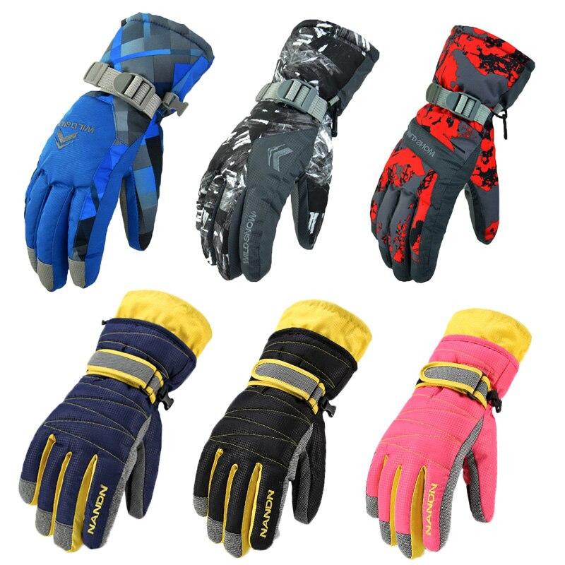 Men's Women Ski Gloves 2020 New Hot Snowboard Gloves Motorcycle Riding Winter Ski Gloves Windproof Waterproof Unisex Snow Gloves