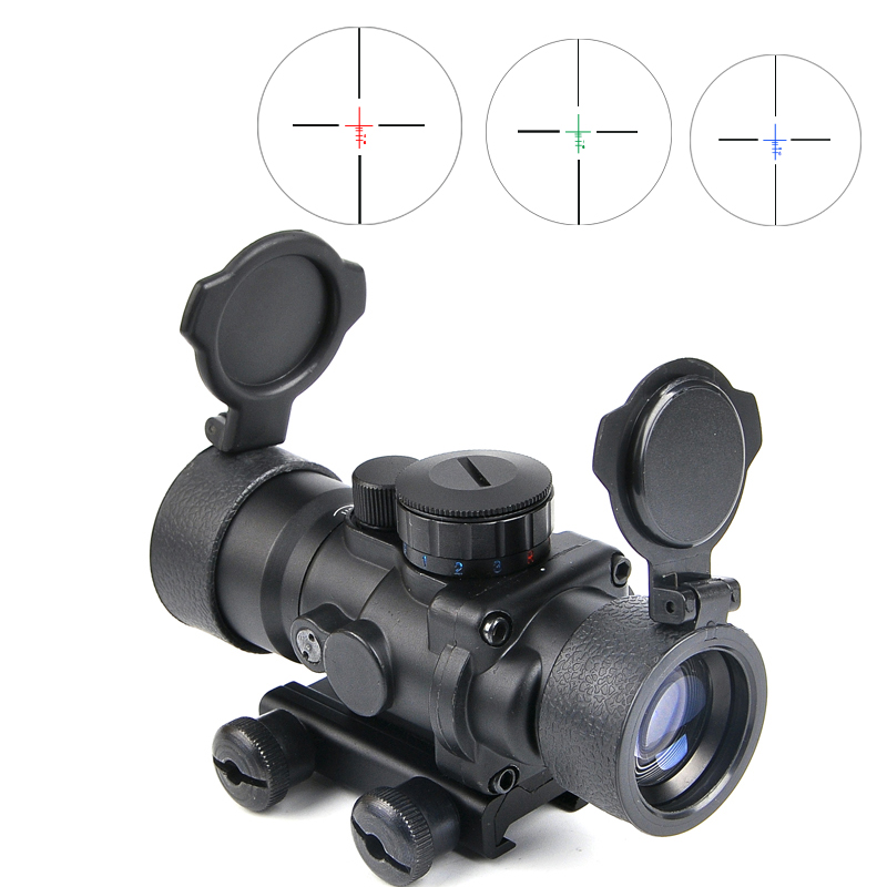 Bestsight 3.5X30 Tactical Red Green Blue Riflescope Optic Sight Rifle Scope Hunting Scopes With 20mm Rail Mount