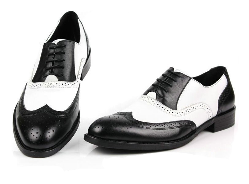 Online Get Cheap Mens Black and White Wingtip Dress Shoes ...
