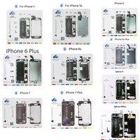 10 in 1Set Magnetic Screw Mat for iPhone 5,5s,6,6 Plus,6s,6s Plus,7,7 Plus 8,8 Plus Professional Guide Mobile Phone Repair Tools