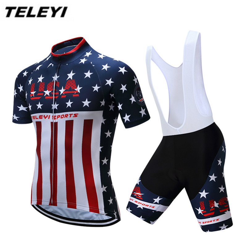 Blue Stars Sportswear Bike Cycling jersey Bib Shorts Sets Men Bike clothing Suits Maillot Ropa Ciclismo MTB bicycle Top Bottom