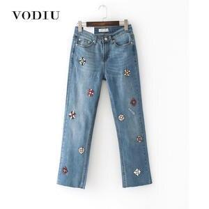 98b1a3c830c vodiu Jeans Woman High Waist Skinny 2018 Denim Pants
