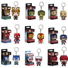 Funko pop the marvel avengers 3: infinito guerra loki hulk thor ironman coleção chaveiro figura de ação brinquedos para crianças presente