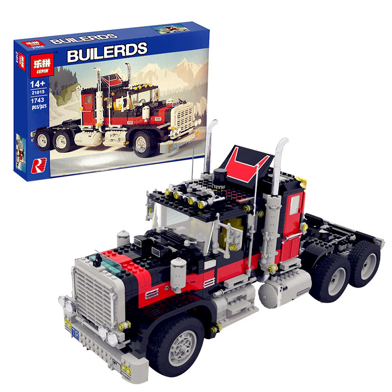 PRESELL Lepin 21015 1743Pcs The giant American container car Educational Building Blcoks Bricks Toys Gift Compatible with 5571