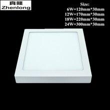 Светодиодный светильник 6 Вт 12 Вт 18 Вт 24 Вт круглая квадратная панель светодиодный потолочный светильник AC110V 220 в внутренний поверхностный монтируемый светильник