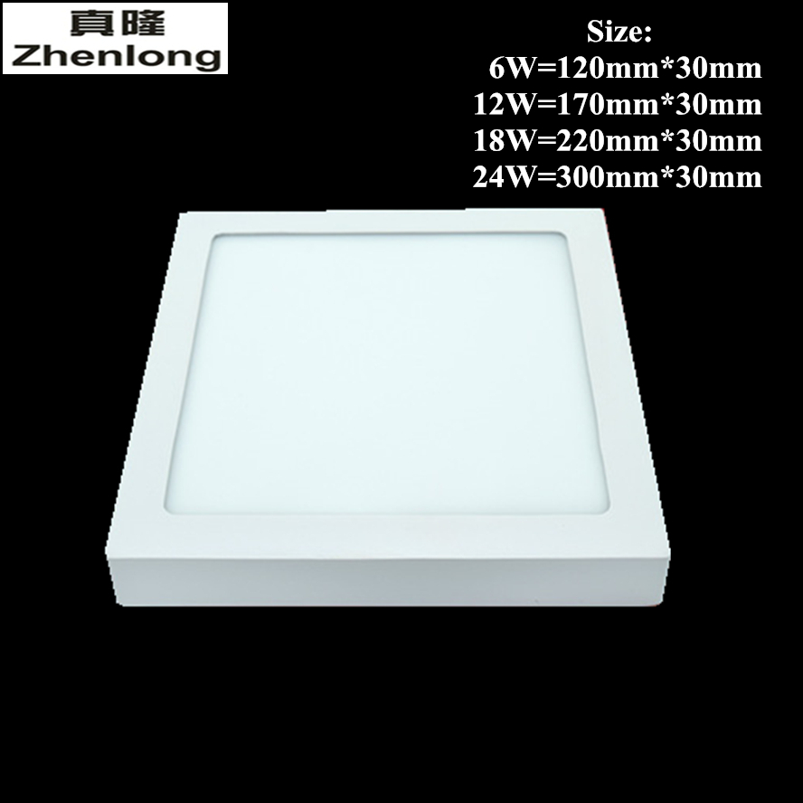 Zhenlong No cutting LED Ceiling Light 6W 12W 18W 24W Surface Mounted Square Ceiling LED  ...