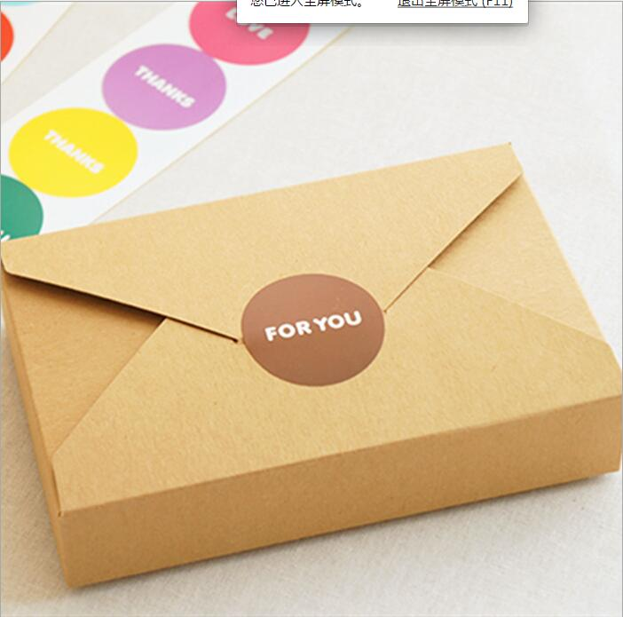 100pcs 19.5*12.5*4cm White/brown kraft Paper envelope Box for candy/food/wedding/jewelry gift box packaging display boxes