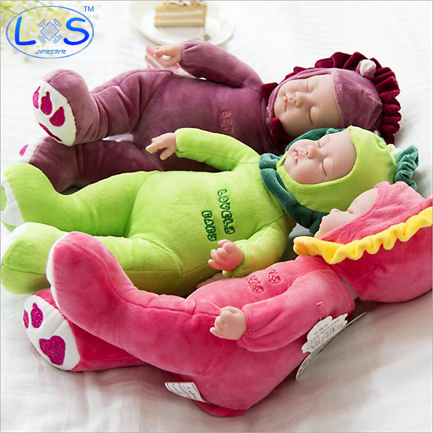 25cm Plush Stuffed Baby born Doll Simulated Babies Sleeping Dolls Children Toys Birthday Gift For Babies