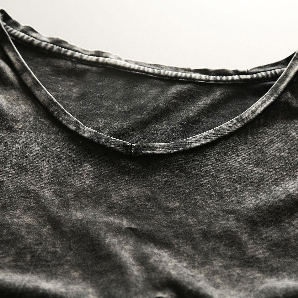 Zecmos Vintage Black T-Shirt Mænd Kina Størrelse Fashion Heavy - Herretøj - Foto 3