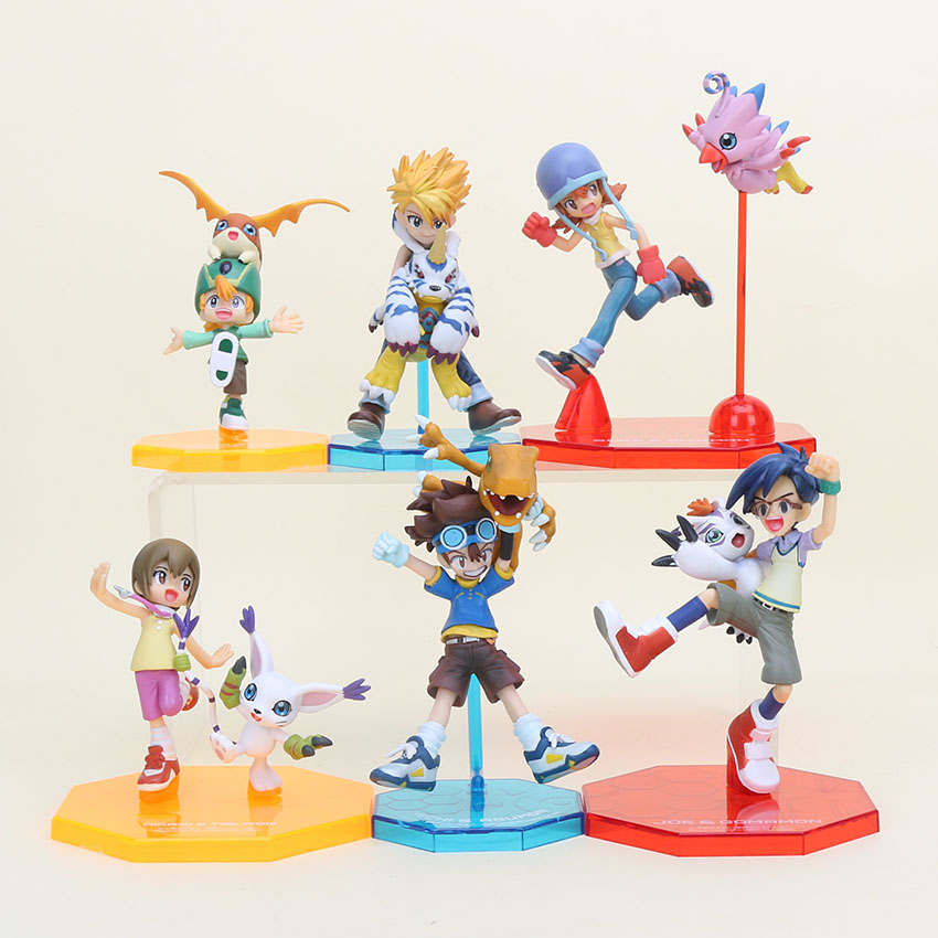 6pcs set Digital Digimon Figure ISHIDA YAMATO Gabumon TAICHI Agumon PVC Action Figure Digimon Collection Model