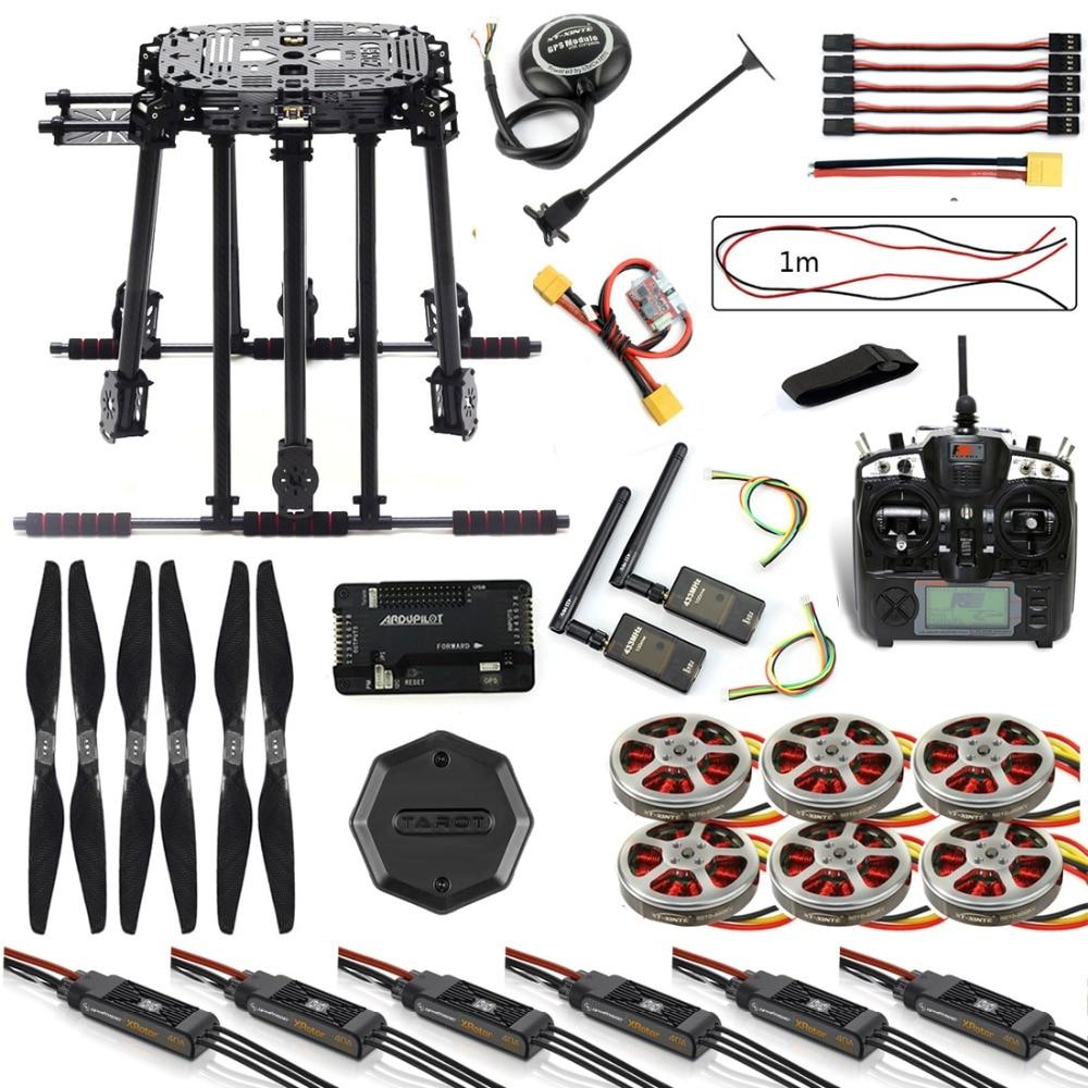 JMT bricolage Kit cadre Drone APM2.8 commande de vol M8N GPS avec Flysky TH9X télécommande 3DR télémétrie moteur ESC pour FPV Hexacopter