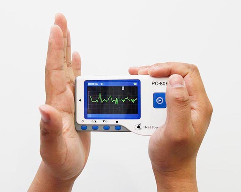 HealForce PC-80B ECG,Handheld Easy EKG Monitor, Portable Health monitor, Measurement of one channel ECG, CE approved health care ce easy handheld ecg ekg portable mini pc 80b lcd heart ekg monitor continuous measuring function usb