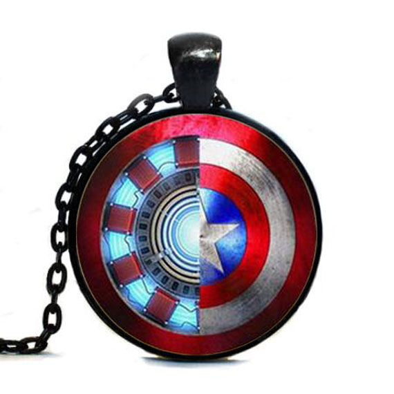 Iron Man Captain America Necklace Captain America Jewelry Pendant chain jewelry new mens women necklace vintage toy