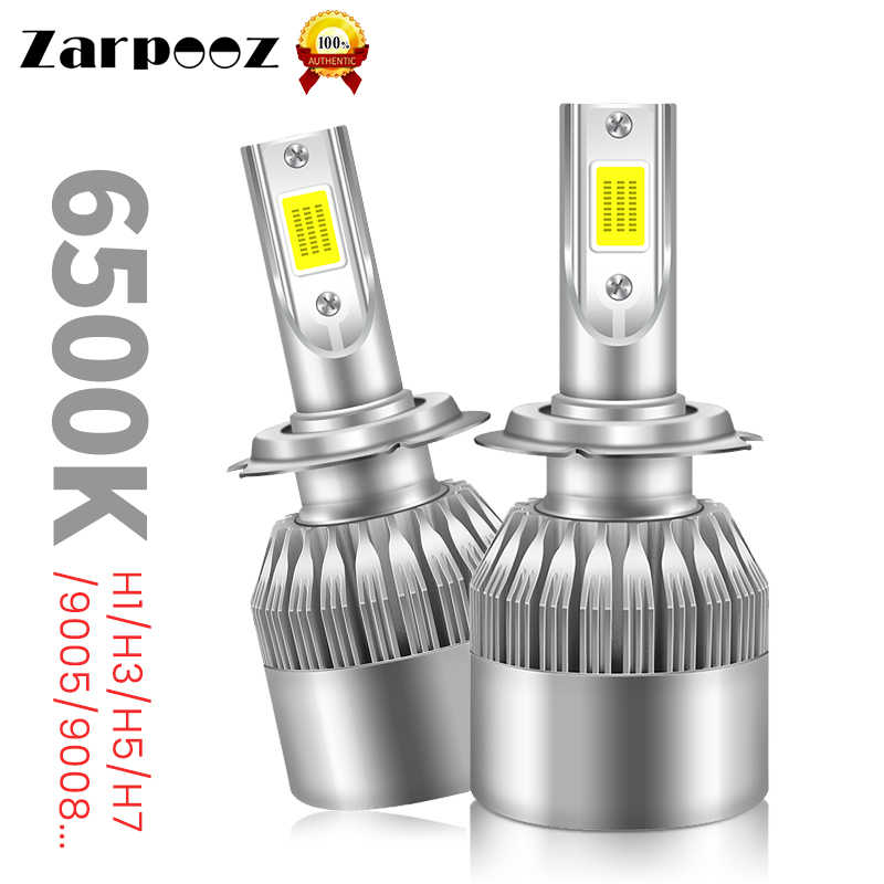 Zarpooz Light Saturated Bright C6 LED Car Headlights H7 LED H4 HB2 H1 H3 H11 HB3 9005 HB4 9006 9004 9007 C6 Led Car Headlight