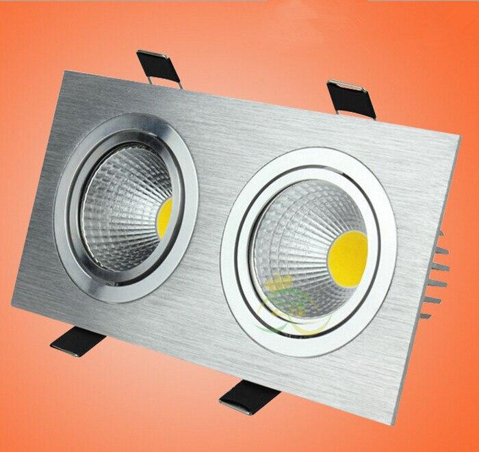 Двойные фары 20 Вт затемнения Светодиодное освещение удара светодиодные светильники потолочные встраиваемые Светодиодные пятно света ламп...