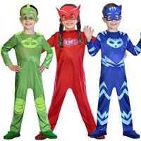 Catboy P J Cosplay Costumes Mask Cartoon Boys Cosplay Jumpsuits Halloween Christmas Streetwear Pajama Hero Costumes