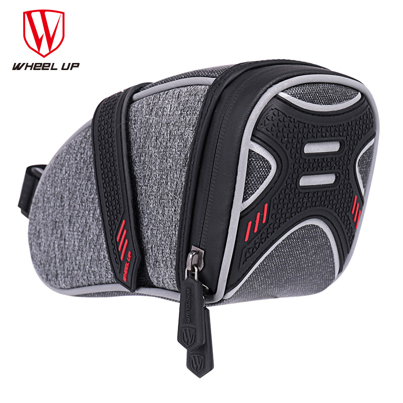 Wheel Up Bicycle Saddle Bag Tube Rear Tail Seatpost Bag Bike Accessories Rainproof Reflective Cycling Bike With Ligh Hook