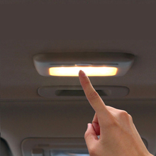 цена на LED White Car Reding Lamp Vehicle Indoor Roof Ceiling Lamp Interior Decorative Square Dome Reading Light Car Styling QP178