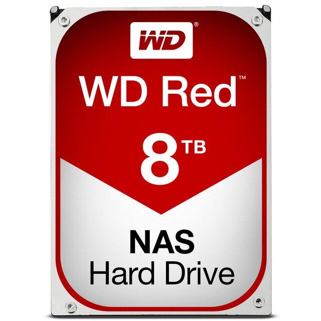 Disques durs internes rouges numériques occidentaux, disque dur 3.5 pouces, 8 to, 5400 tr/min, 6 Gbit/s