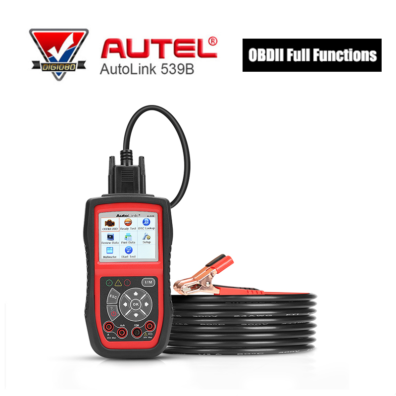Autel AutoLink AL539B OBDII Code Reader Diagnostic Tool Electrical Test OBD2 Scan Tool Auto Scanner Automotive Scanner u581 memo scanner auto diagnostic checker scan tool can obdii obd2 code reader free shipping