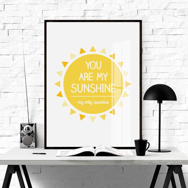 223 51 De Descuentotipografía Nórdica Minimalista My Sunshine Frases Artísticas Imprimir Cartel De Pintura Cuadros De Pared Para La Decoración