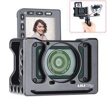 Camera Cage Mount voor Sony RX0 II Beschermende Metalen Vlogging Houder w Koud Schoen 37mm Lens Filter Adapter 1/4 3/8 VS Kleine rig