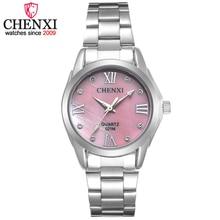 CHENXI Marca Mujeres Elegantes Señoras del Reloj de Cuarzo de Acero Inoxidable de Negocios Rhinestone Decoración Reloj de Regalo Relogio Feminino