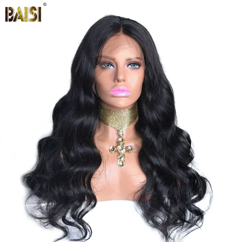 BAISI Hair Brazilian Body Wave 13X6 Lace Front Wigs Bob Wig with Pre Plucked Hairline 100% Human Hair wigs 200 density lacewig