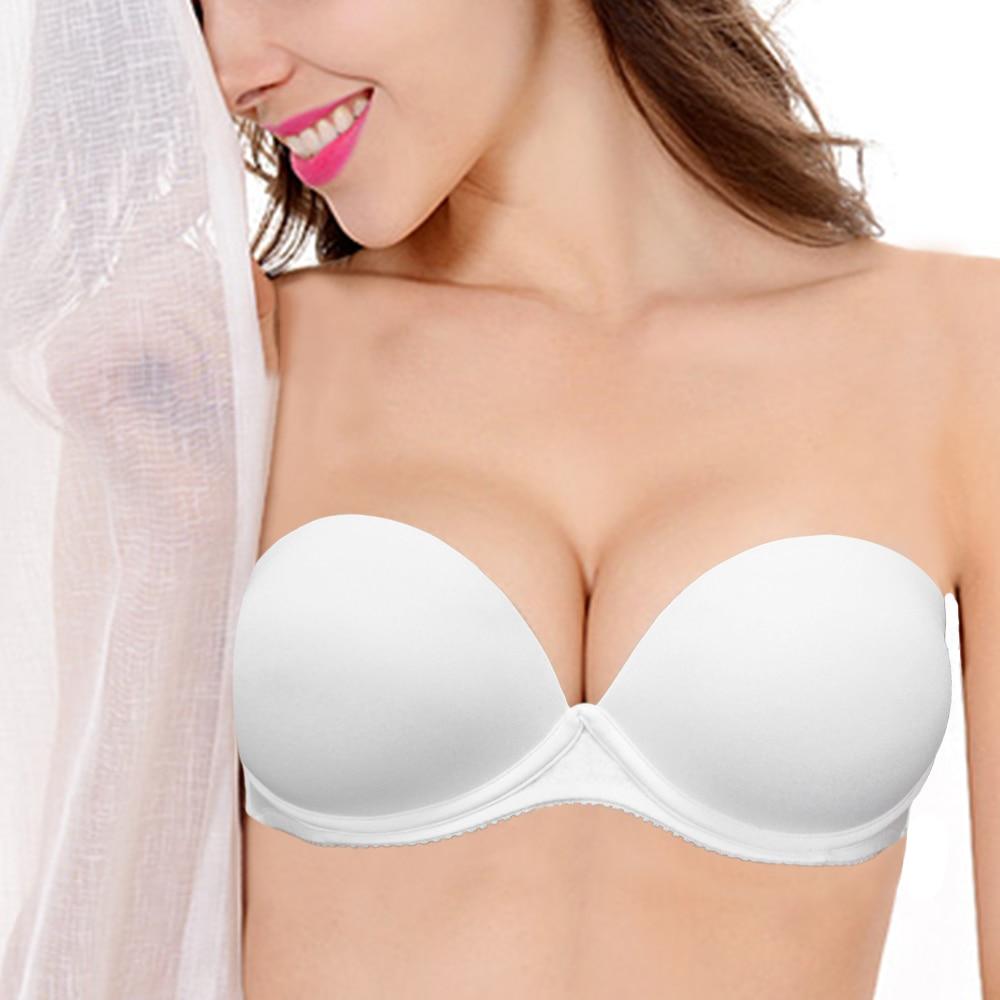 ad344cdcd9b9b Ladies Secret Sexy Push Up Bras Bralette Underwear Women Strapless Bra  Invisible Wedding Sujetador Bra soutien gorge BH Thick