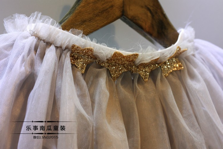 2016 New Girl Skirt Summer Sweet Veil Material Tutu Skirt With Good Quality  (2)