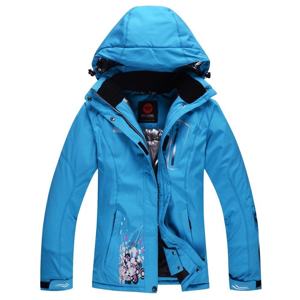 Prix pour Femme de neige vestes Fleur Impression snowboard veste de ski femmes veste imperméable ski manteau pour femme sport respirant