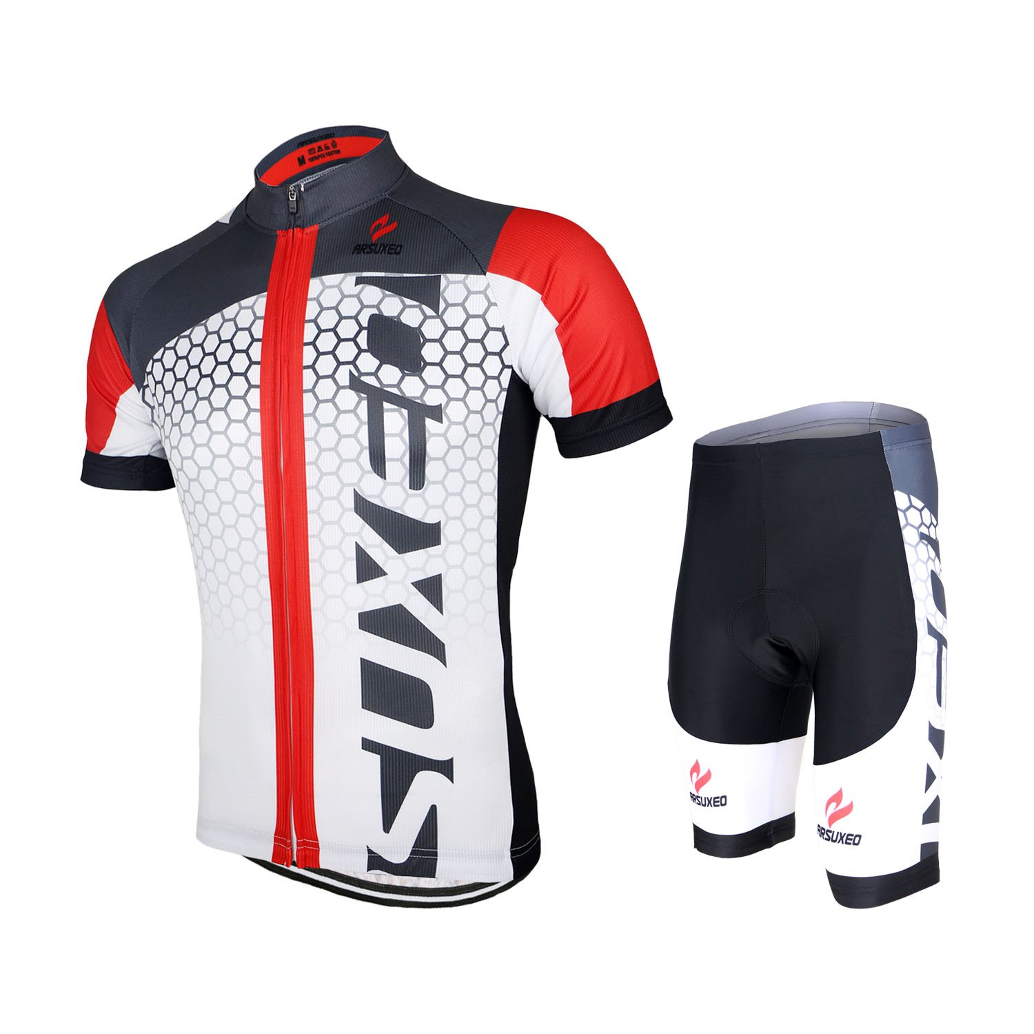 ФОТО ARSUXEO Men MTB Road Outdoor Sport Cycling Jersey Bike Bicycle Short Sleeves Jersey Mountain Bike Clothing Shirts