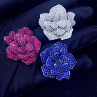 Qi Xuan_Fashion Brooches_New Camellia Winter Exquisite Brooch Women S925 Sterling Silver Pins Fashion Simple Corsage