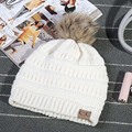The New 2017 Women's Fashion Knitted Cap Autumn Winter Outdoor Men Warm Hat CC Skullies Brand Heavy Hair Ball Twist Beanies