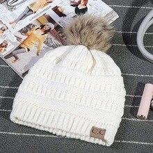 2656eb91492 New 2018 Women s Fashion Knitted Parent-child Cap Autumn Winter Men Warm Hat  Skullies Brand
