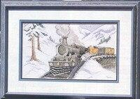 Fishxx Kruissteek C041scenery [Sneeuw berg valleien van de trein] In de winter, nauwkeurige patroon, 11CT,