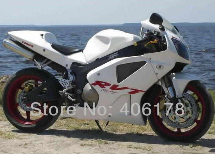 Hot Vendas, 00 01 02 03 04 05 06 VTR1000 RC51 kit carenagem Para Honda Rc51 SP1 SP2/RVT1000RR 2000-2006 Motocicleta Branca carenagens