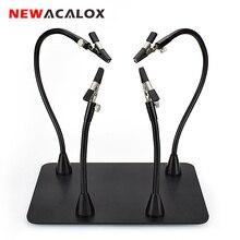 NEWACALOX Magnetico Flessibile Braccio PCB Board Fisso Clip di Saldatura Terza Mano di Saldatura Stazione di Saldatura Supporto di Strumenti di Riparazione