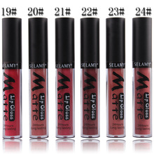 New Makeup Cosmetics Sexy Matte Liquid Lips Lipstick Batom 24 Colors Waterproof Maquiagem Moisturizer Lip