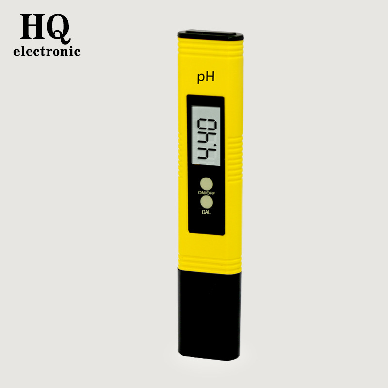 Portable pH meter ph test pen PH tester Soil ph value detection 0.00-14.00ph Precision glass probe Water Quality Analyzer yellow  цены