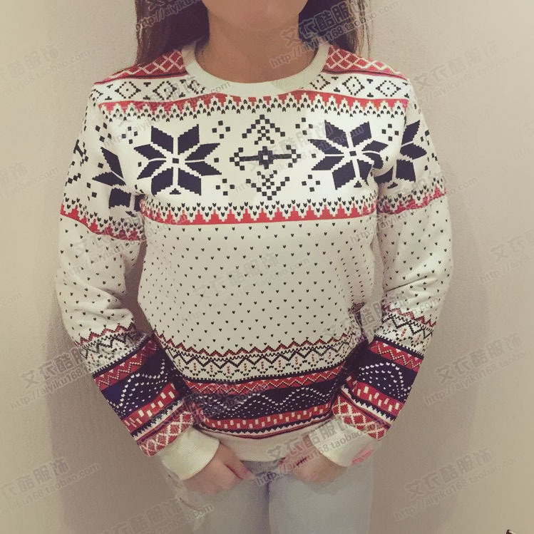 2016 hot sales! New printing snow thick warm cashmere   girl size S-XL