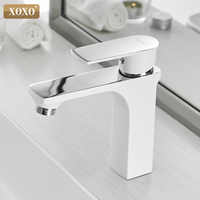XOXO Basin Faucet Cold and Hot Water Taps Bronze Green Orange White Fashion Style Single Hole Bathroom Mixer Faucet 20045