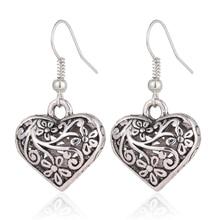 Antique  Hollow Heart Drop Earrings