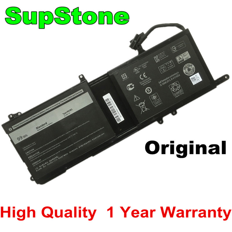 SupStone Original New 9NJM1 Laptop Battery For Dell DELL ALIENWARE 17 R4 15 R3 Tablet 0546FF 44T2R MG2YH HF250 9NJM1