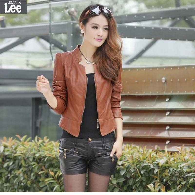 Compare Prices on Short Brown Leather Jacket- Online Shopping/Buy