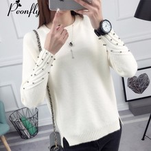 PEONFLY Thick Warm Winter Sweater Women 2018 Knitted Pullover Female Jumper Tricot Pullover Women's Winter Tops Pull Femme