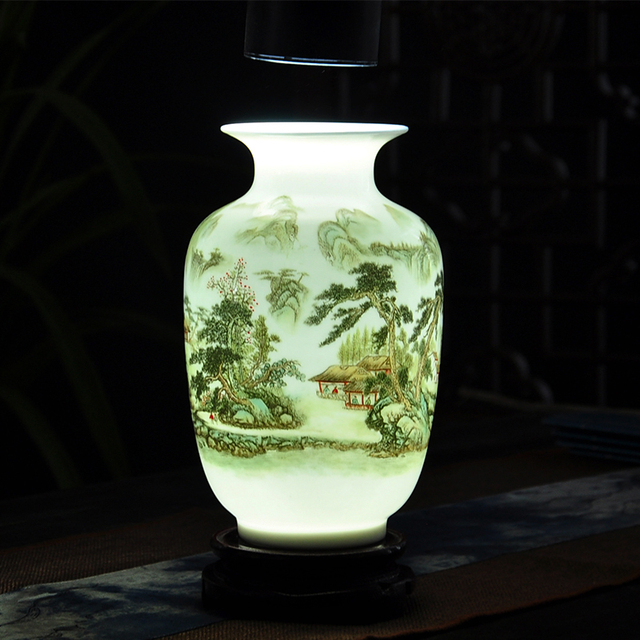 New Chinese Style Gourd Vase Jingdezhen Classical Porcelain Kaolin
