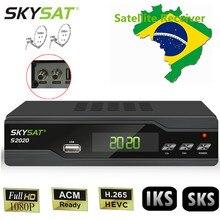 South America SKYSAT S2020 satellite receiver sks iks for brazil Stable Server VOD ACM Receptor H.265 Dual Tuner tv box IPTV M3U цена